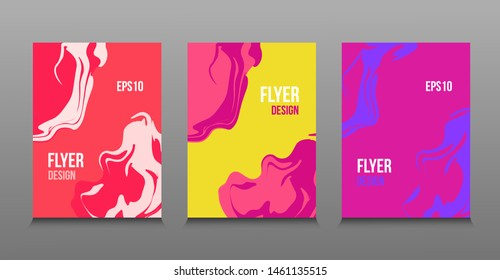 Modern abstract design of colored bright liquid paints.Splash trends paints. For design presentations, print, flyer, business cards, invitations, calendars, sites, packaging and cover