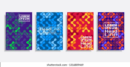 Modern abstract design covers pattern set. Vector illustration.