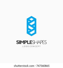 Modern abstract design vector element for identity, logotype or icon.