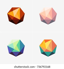 Modern abstract design vector elements set for identity, logotypes or icons.