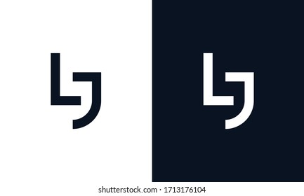Modern Abstract elegant line art letter LJ logo. This logo icon incorporate with letter L and J in the creative way.