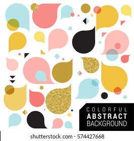 Modern abstract feminine background with splash colors, pink and gold, greeting card, poster