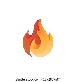 Modern Abstract Fire Flame Blaze Logo