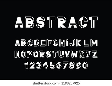 modern abstract  font and alphabet