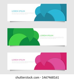 Modern abstract geometric design banner template. Vector