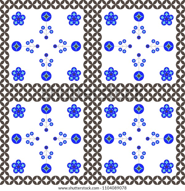 Modern abstract geometric seamless pattern in scandinavian style. Vector Illustration.