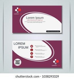 Modern abstract geometric style business visiting card, label, sticker, badge vector design template