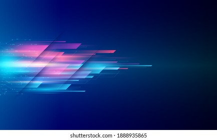 Modern abstract high speed movement. Colourful dynamic motion on blue background. Movement sport pattern for banner or poster design background concept. - Shutterstock ID 1888935865