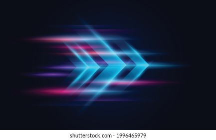 Modern abstract high-speed movement. Colorful dynamic motion on blue background. Movement technology pattern for banner or poster design background concept. - Shutterstock ID 1996465979