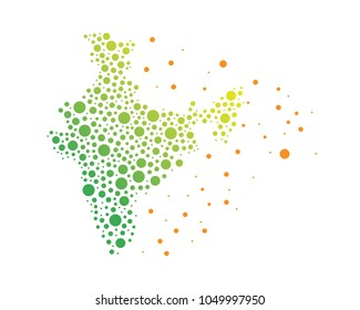 Modern Abstract India Business And Technology Logo