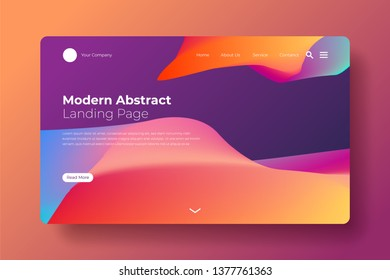 Modern abstract landing page. Colorful modern abstract landing page for your business website