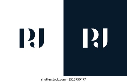 Modern abstract letter PJ logo. This logo icon incorporate with two abstract shape in the creative way.