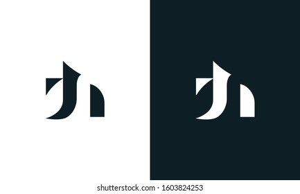 Modern abstract Letter TH logo. This logo icon incorporate with letter T and H in the creative way.