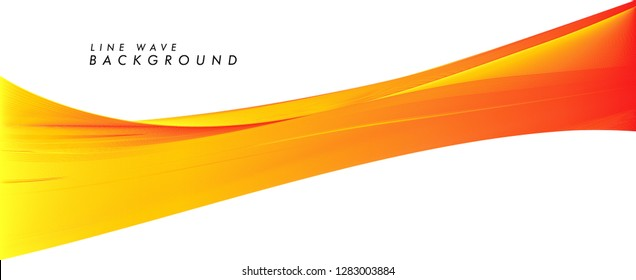 modern abstract line wave background in eps 10