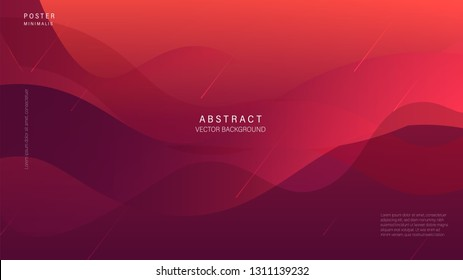 Modern abstract line, wavy background and full color. Vector Illustrator. Eps 10 - Vector