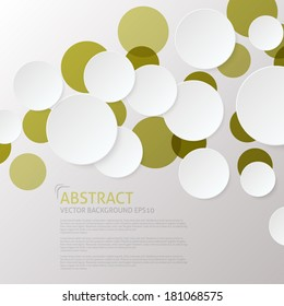 Modern Abstract Overlapping Circles Background - Design Template
