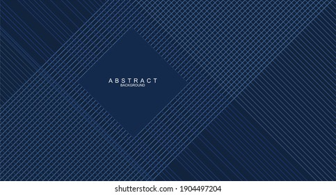 Modern abstract presentation background. Fancy paper cut background. Abstract decoration, 3d vector illustration. Dark blue background, Smart design for business advertising. Abstract vector, science