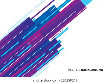 Modern abstract purple and blue background with lines