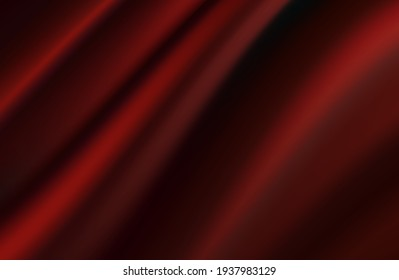 modern abstract red background. Dark red silk fabric curtain background. Vector illustration.