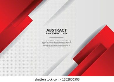 MODERN ABSTRACT RED AND WHITE BACKGROUND