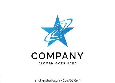 Modern abstract star flat illustration logo vector template
