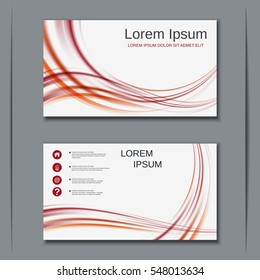 Modern abstract style visiting card vector design template