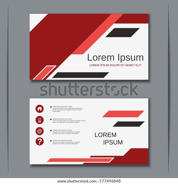 Moderne Abstrakte Visitenkarten Vektordesign Vorlage Stock