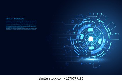 Modern Abstract technology concept communication circle digital circuits on blue background and innovation hi tech future design background,vector illustration.
