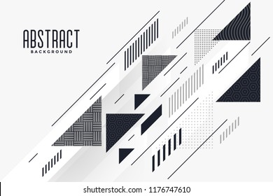 modern abstract triangle and lines composition background