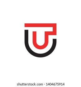 modern abstract ut letter logo design inspiration