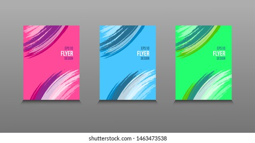 Modern abstract vector design of colored bright paints. Splash trends paints. For design presentations, print, flyer, business cards, invitations, calendars, sites, packaging and cover