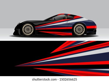 modern abstract vehicle wrap vector design. eps10