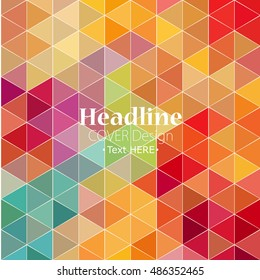modern abstraction in a bright and beautiful polygonal style