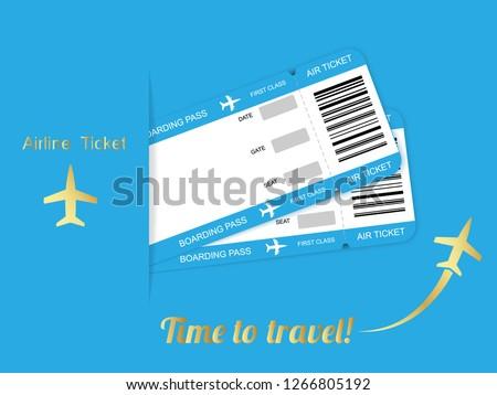 Modern Airline Travel Boarding Pass Ticket Image Vectorielle De