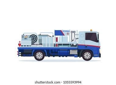 Modern Airport Underground Tank Truck Refueler Ground Support Vehicle Equipment Illustration