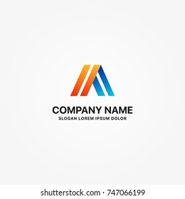 Modern alfa logo graphic design or single icon vector