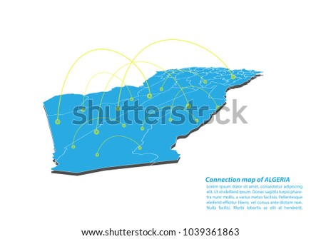 modern of algeria map connections network design best internet concept of algeria map business from