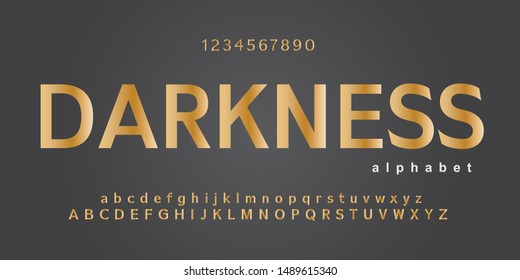 Modern alphabet font silver and golden color. technology typography regular and italic gold fonts. vector illustration