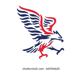 Modern American Eagle Patriotic Logo