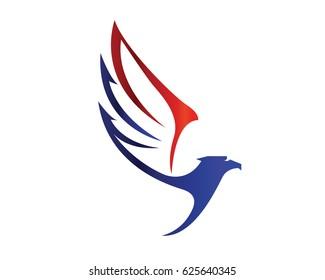 Modern American Eagle Patriotic Special Force Logo