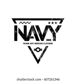592677ce Modern American navy grunge effect tee print vector design isolated on  white background. Premium quality