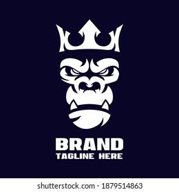 Modern angry gorilla logo. Vector illustration