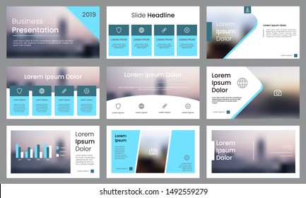 Modern aqua blue presentation template. Infographic template vector. Use for business data visualization, slide presentation, corporate, annual report, brochure, banner, etc.