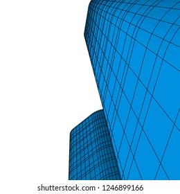 Modern architecture 3d