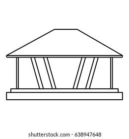 modern architecture home icon image