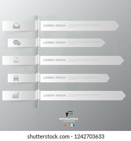 Modern arrow infographics element origami style. Vector illustration. can be used for workflow layout, diagram, number options, step up options, web design.