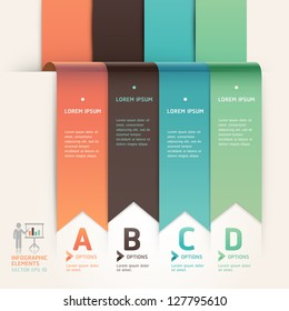 Modern arrow origami style step up options banner template. Vector illustration. can be used for workflow layout, diagram, web design, number options, infographics.