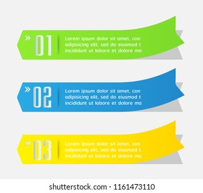 modern arrow text box template for website computer graphic technology, banner Infographic