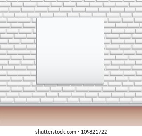 Modern art gallery Empty picture on the wall  vector background