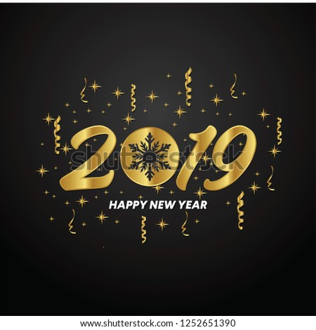 Modern Art Graphics Happy New Year Stock Image Download Now